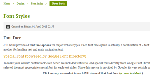 Font Face News Special