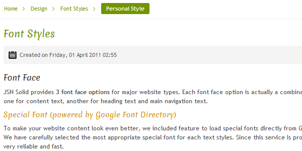 Font Face Personal Special